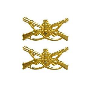Distintivo Infantaria em metal dourado - Padrão RUE (PAR)