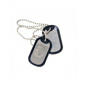 Plaqueta de identificação militar Dog tag - C.I.G.S