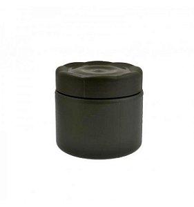 Pote plástico pequeno com vedação - Verde Oliva