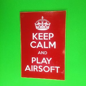 "Placa decorativa ""Keep calm and play Airsoft"""