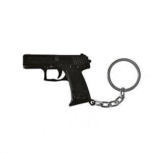 Chaveiro Pistola USP .45 em metal - Preto