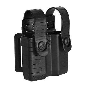 Porta magazine de pistolas duplo Tab Lock em polímero Bélica - Preto