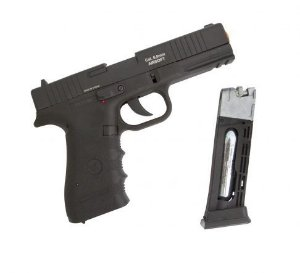 Pistola de airsoft Glock W119 Wingun á gás CO2 Blowback Slide metal - Cal. 6mm