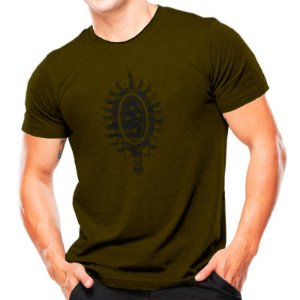 Camiseta T-shirt estampada Brasão EB - Verde oliva