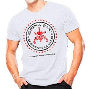 Camiseta T-shirt estampada BOPE - Branca