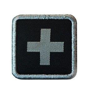 Patch médico bordado Warfare - Preto