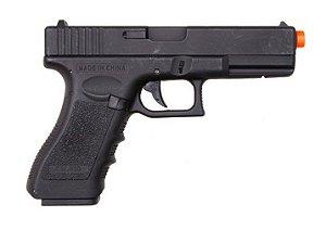 Pistola de airsoft elétrica (AEP) Cyma Glock G18 CM.030 - Preta