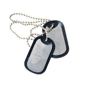 Plaqueta de identificação militar Dog tag - Aeronáutica
