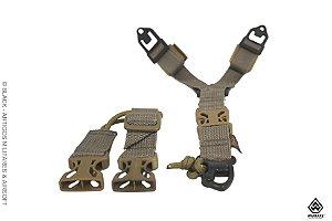 Bandoleira Y (1 Ponto) Warfare para coletes modulares - Coyote