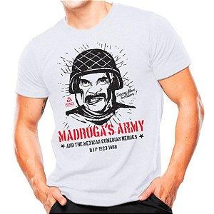Camiseta T-shirt estampada Madruga's army - Branca