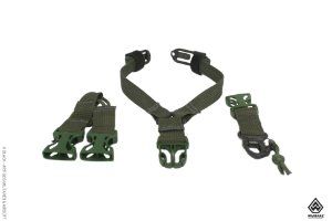 Bandoleira Y (1 Ponto) Warfare para coletes modulares - Verde oliva