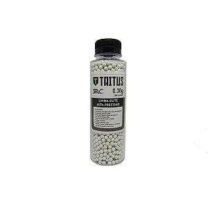 Esferas plásticas BBs Taitus 0.30g Alta precisão (Branca) - 2000 un