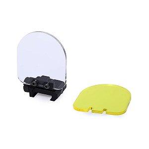 Protetor para red dot em acrílico transparente/ambar -  22mm