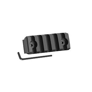 Trilho tático picantinny 5 slots (5cm) - Keymod
