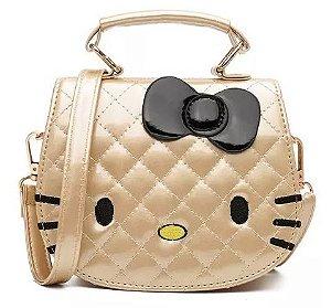 Bolsinha Hello Kitty Dourada
