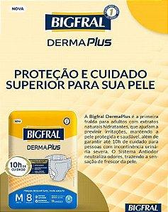 Fralda Bigfral Derma Plus M com 8 unidades