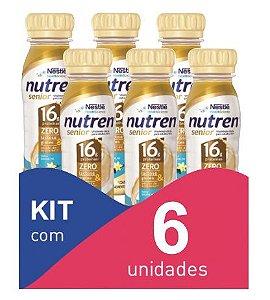 Nutren Senior Baunilha 200ml - Kit com 6 unidadades