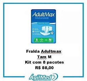 Fralda Adultmax Tamanho M - Kit com 8 pacotes