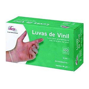 Luva Proc. vinil sem pó M - Luvix