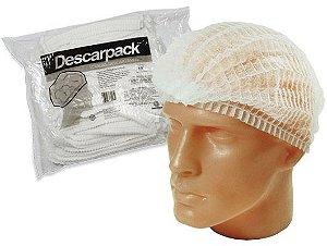 Touca Descartável Descarpack - Pacote com 100 unidades