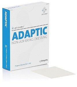 Curativo Adaptic Malha não Aderente - Envelope 7,6cm x 7,6cm - Systagenix