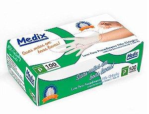 Luvas de Látex Para Procedimento Não Cirúrgico Sem Pó - Medix Tamanho P