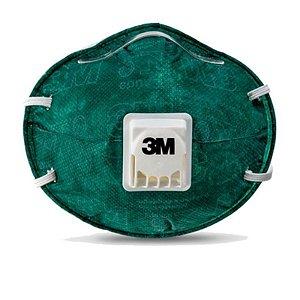 Máscara de Proteção Respiratória PFF2 Com válvula 8822 Verde 3M Unidade