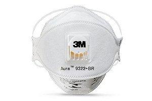 Máscara de Proteção Respiratória PFF2 Aura 9322+BR 3M - Unidade