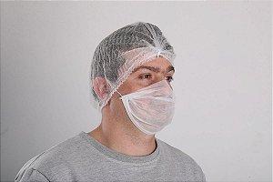 Máscara descartável Tripla pc c/ 100 unidades - Brasmo