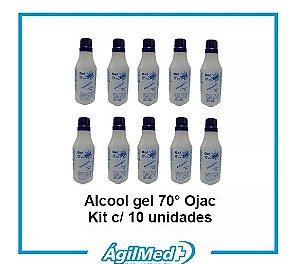 Álcool Gel 70% 99g OJAC Kit 10 unidades