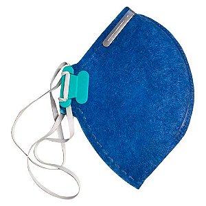 Máscara Proteção Respiratória PFF2 Azul Sem válvula-Lubeka