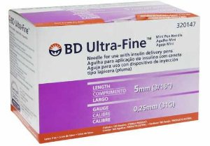 Agulha Ultra-fine 5mm Cx 100 - BD
