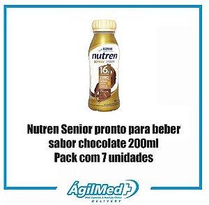 Nutren Senior chocolate 200ml Pack com 7 unidades