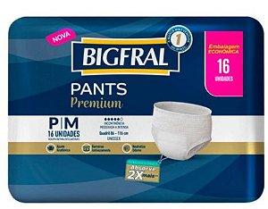 Fralda Bigfral Pants Premium P/M com 16 unidades