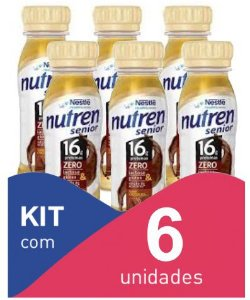 Nutren Senior Chocolate 200ml - Kit com 6 unidadades