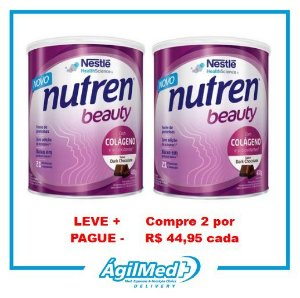 Nutren Beauty Sabor Dark Chocolate - 400 g - 2 unidades