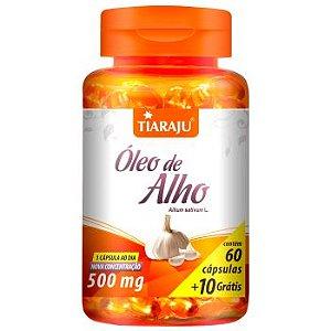 Oleo de Alho 500MG 60+10CPS Softgel (70CPS) S/GLUTEN - TIARAJU