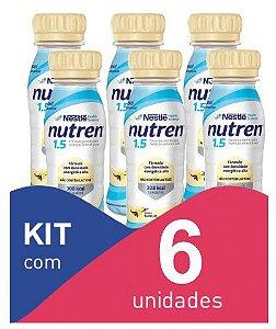 Nutren 1.5 200ml Baunilha - Kit com 6 unidades