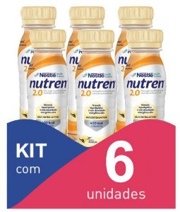 Nutren 2.0 baunilha 200ml - Kit com 6 unidades
