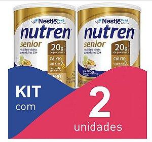 Nutren Senior Pó Sem sabor 370g - Kit com 2 unidades