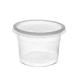 Pote de Plástico  C/ Tampa Descartável 500ml 25un Rioplastic