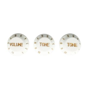 Knobs Guitarras Stratocaster 3 Knobs Brancos