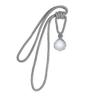 Pingente p/ cortina prata c/ uma bola de cristal F209033