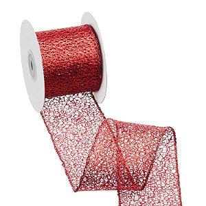 Fita tela vermelha metalizada A108864