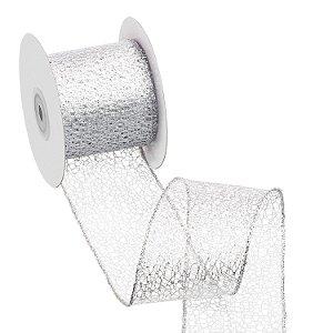 Fita tela prata metalizada A108904