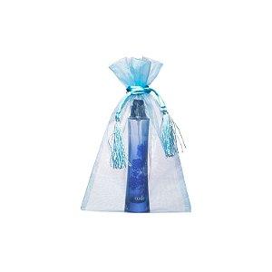Bag em Voil Azul pastel com pingente 24x15cm B155967