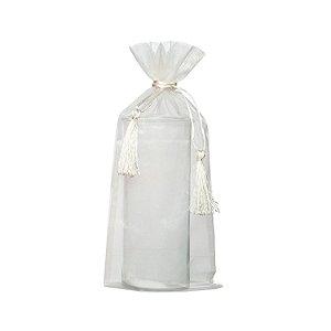 Saquinho de organza Branco com pingente 38x17cm B154909