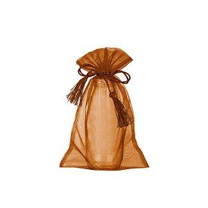 Bag em Voil Bronze com pingente 24x15cm B15800
