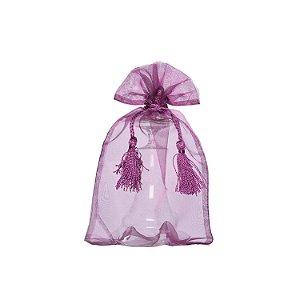 Bag em Voil Magenta com pingente 24x15cm B15772
