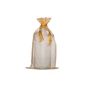 Bag em Voil Ouro com pingente 35x21cm B155387